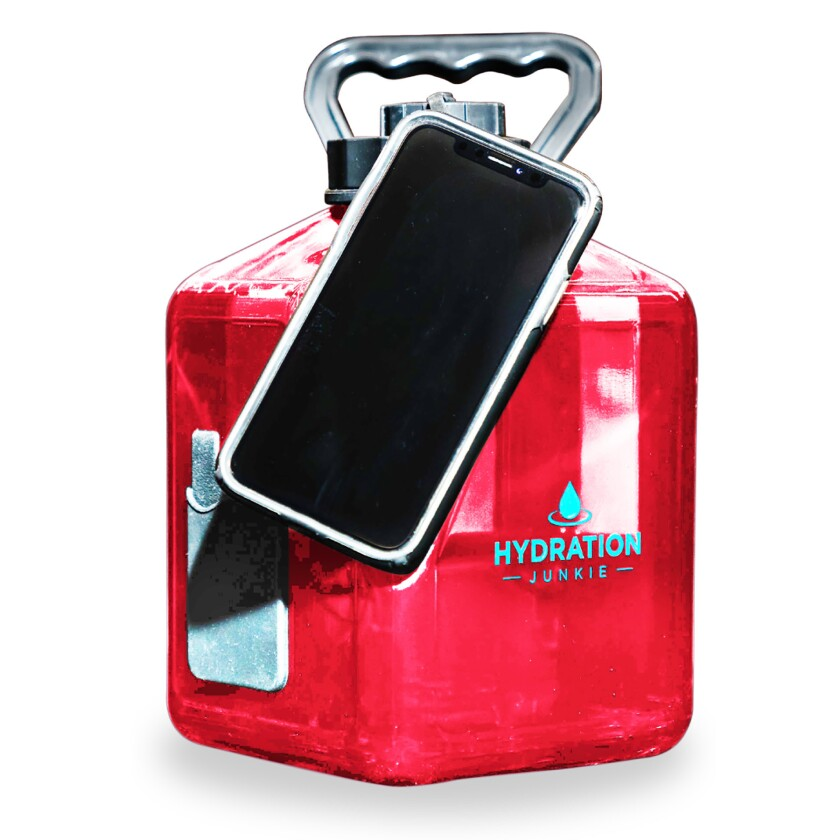 Hydration Junkie Transporter Jug: A square 3-liter waterbottle that also holds your other essential
