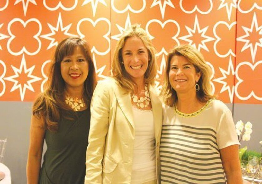 Las Patronas 2013 Jewel Ball co-chair Marlena Poulin, chair Erin Wyer and co-chair Megan Heine