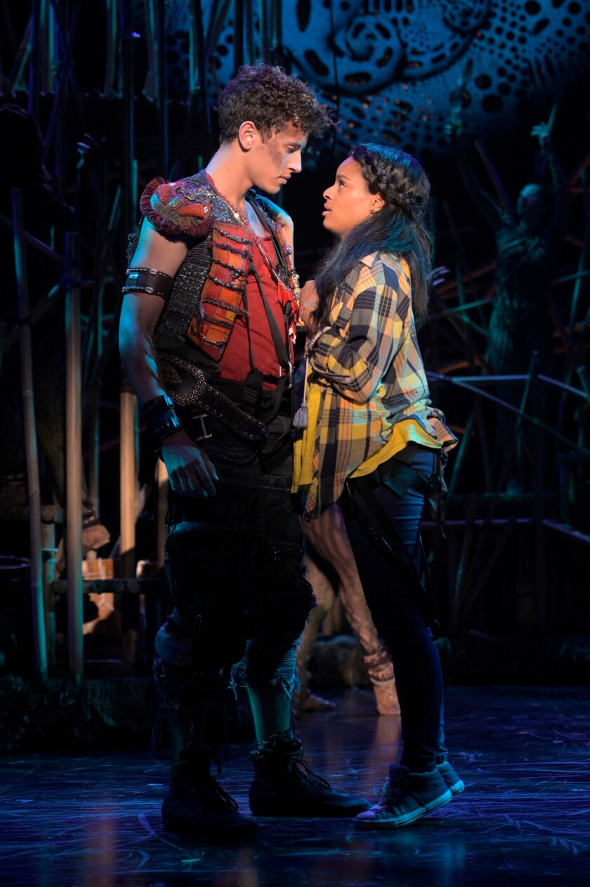 Lincoln Clauss and Storm Lever play Peter and Wendy.