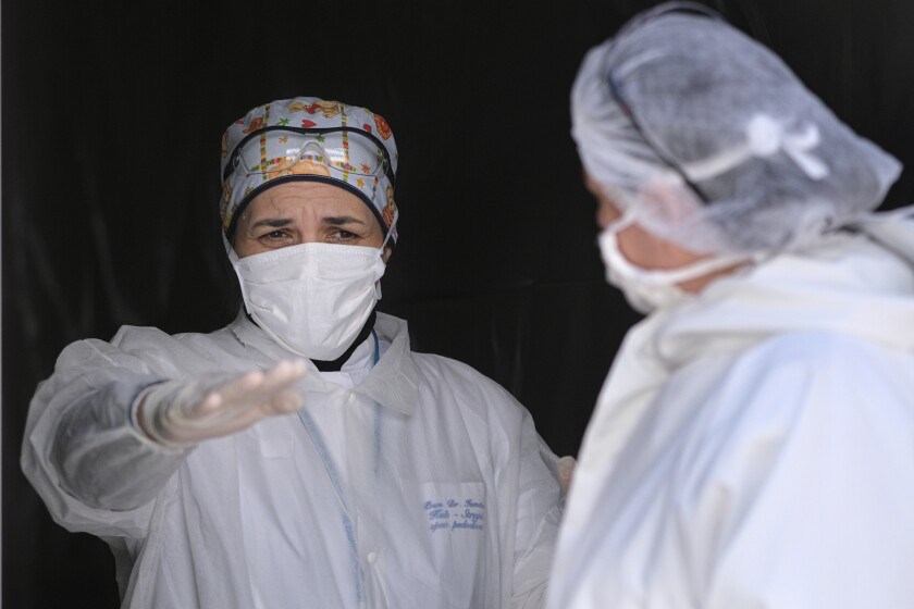 Virus Outbreak Death in Sarajevo Bosnia