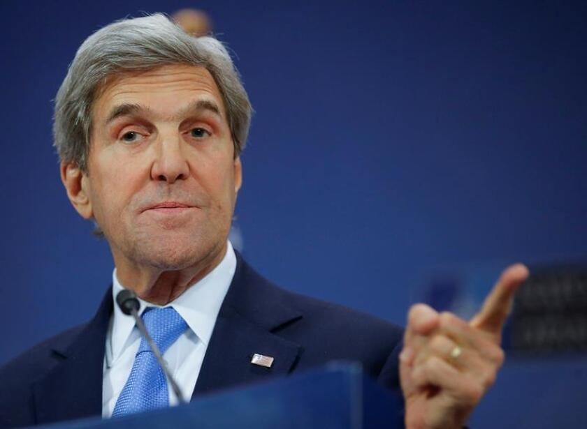 """El secretario de Estado, John Kerry, aseguró hoy no se debe """"perder la esperanza en la solución de dos Estados"""" para resolver el conflicto entre Israel y los palestinos porque """"no hay otra"""". EFE/ARCHIVO"""