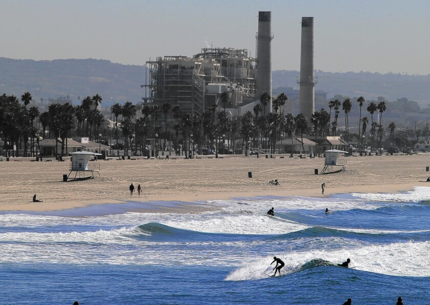 The AES electricity plant in Huntington Beach, the site of a proposed desalination facility.