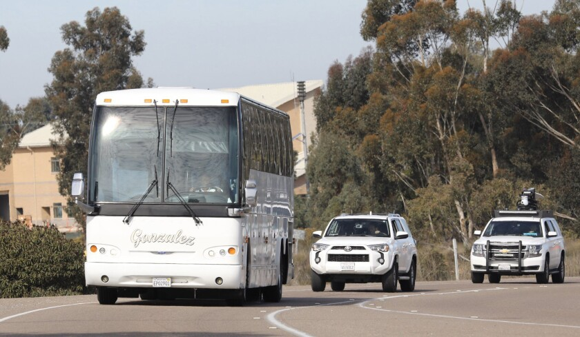 Second group of Americans quarantined over coronavirus is released from Miramar