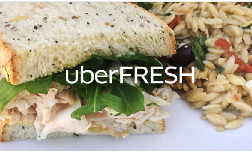 Uber has launched a meal delivery service called UberFresh.