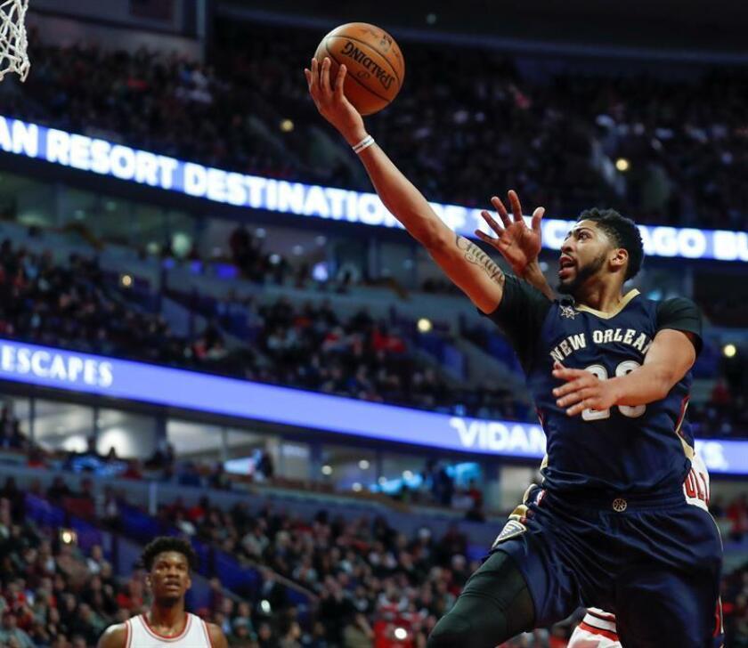 En la imagen, el pívot estelar Anthony Davis de los Pelicans de Nueva Orleans. EFE/Archivo