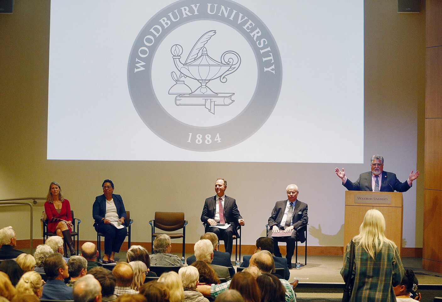 Photo Gallery: U.S. Senator Adam Schiff and California State Senator Anthony Portantino on gun violence panel at Woodbury University