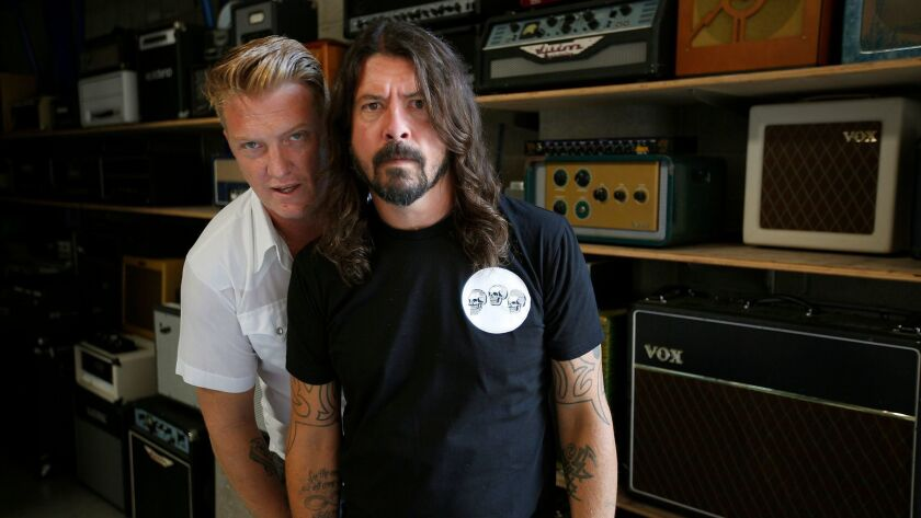 """Honestly, as a drummer, he's the only person I want to play with,"" Grohl said of Homme."