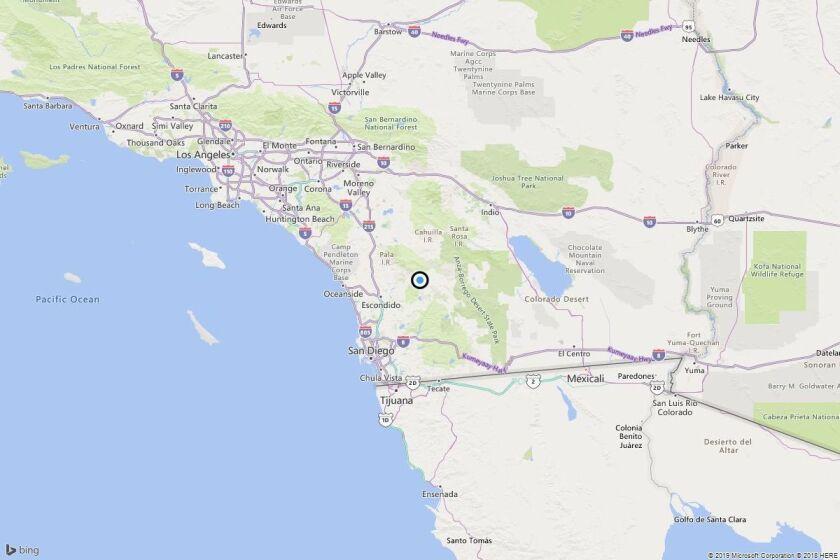 Earthquake: 3.3 quake strikes near Mesa Grande, Calif.