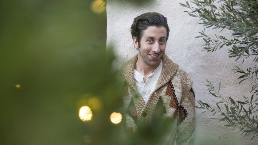 PASADENA, CA-DECEMBER 7, 2018: Simon Helberg is photographed at the Pasadena Playhouse. Helberg, the