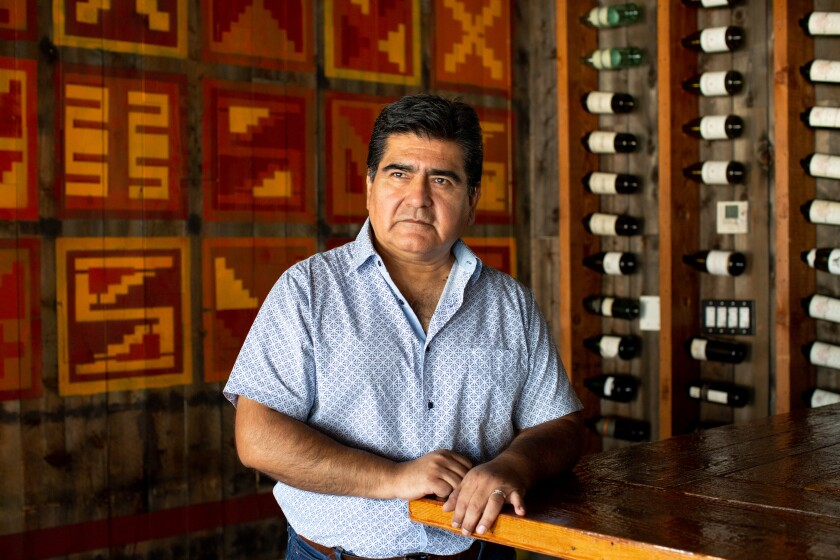 Jorge Rodriguez, owner of Los Balcones del Peru restaurant in Hollywood.