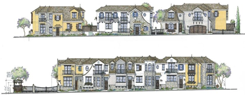 Rendering of the proposed Silver Street Village Homes project at the corner of Draper Avenue and Silver Street, as it would appear from Silver Street (top) and from Draper Avenue (bottom).