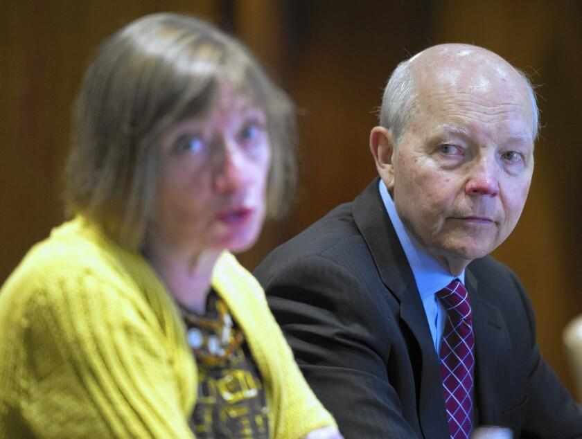 Nina Olson and John Koskinen