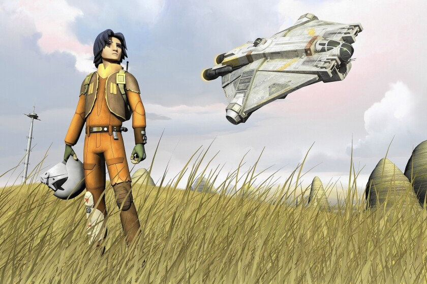 "Ezra is a teen who's drawn into the nascent rebellion against the Empire in ""Star Wars Rebels."""