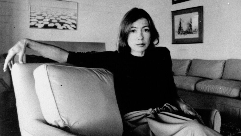 """Joan Didion in 1977. Her new book, """"South and West,"""" plumbs her unfinished works from that decade."""