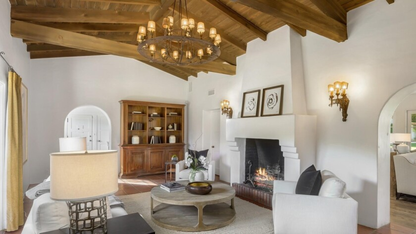The Spanish Colonial Revival compound in Palm Springs once belonged to actor Charles Farrell.