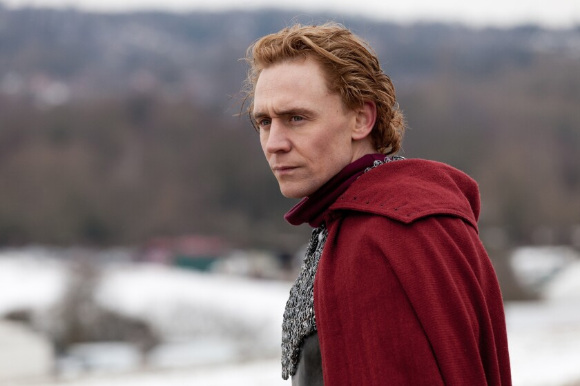 """Tom Hiddleston as Prince Hal in """"The Hollow Crown."""""""