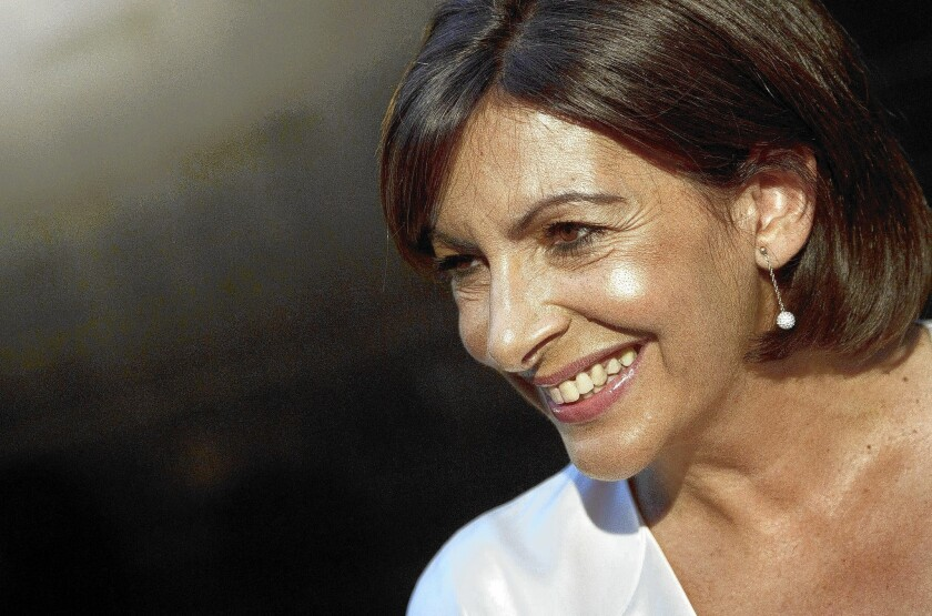 Spanish-born Anne Hidalgo was elected the first female mayor of Paris in March.