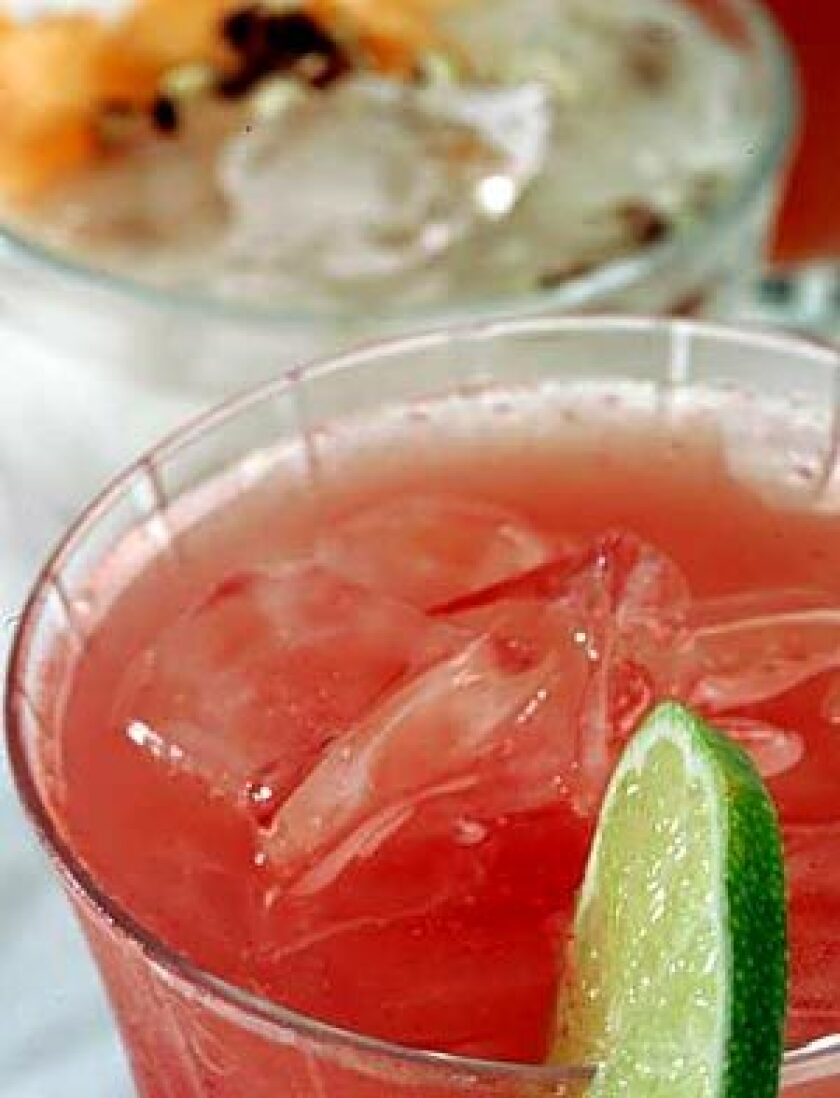 IN SEASON: Right now, you can find a pretty watermelon aguas frescas laced with lime.
