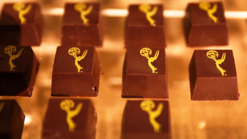 Chocolates by chocolatier Phillip Ashley at the Emmy Awards Governors Ball preview.