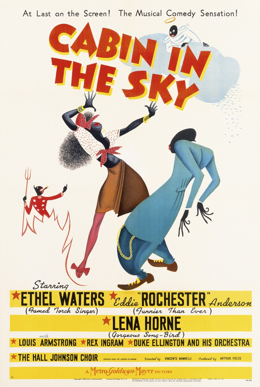 """Poster for the 1943 musical """"Cabin in the Sky"""""""