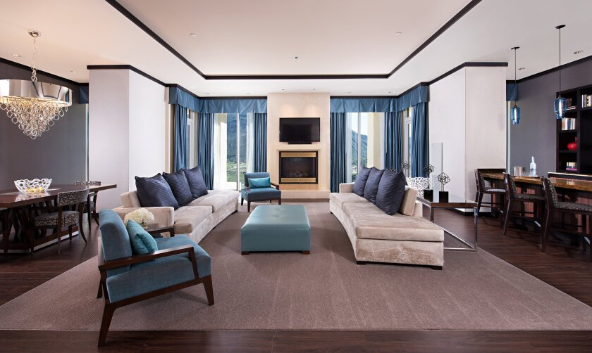 The luxe, two-bedroom, two-balcony Mayoral Suite at Harrah's Resort Southern California is nearly 2,400 square feet.