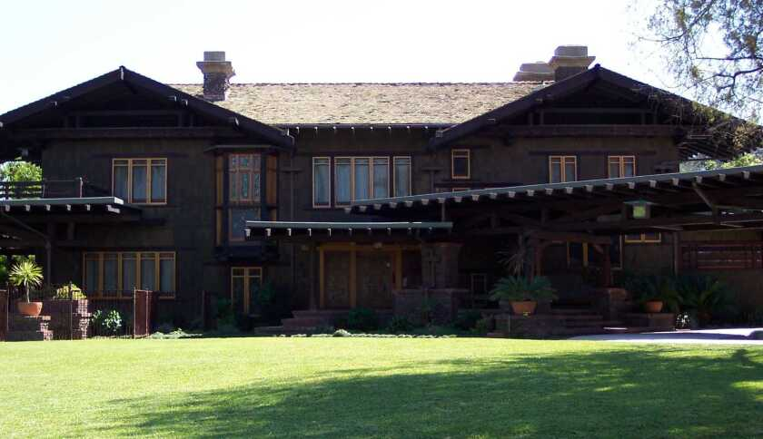 The Blacker House in Pasadena's Hillcrest neighborhood