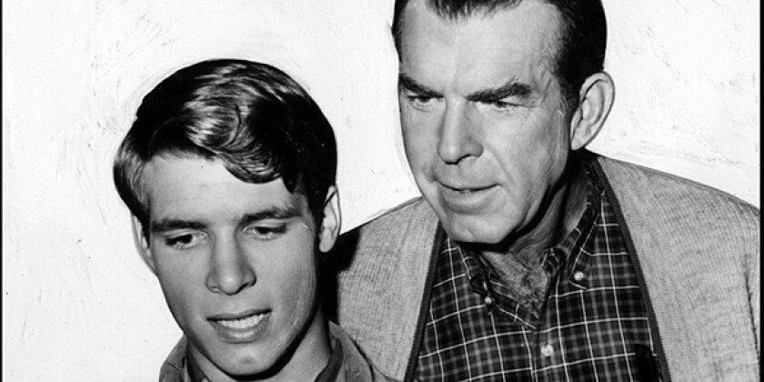 """Don Grady, left, played Fred MacMurray's son on the popular family sitcom """"My Three Sons."""""""