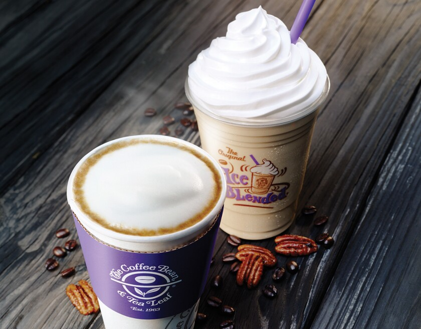 Coffee Bean & Tea Leaf beverages