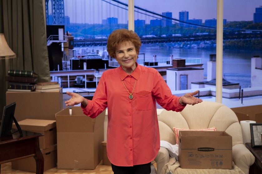 Tovah Feldshuh plays the Dr.  Ruth in North Coast Repertory's Virtual Production of