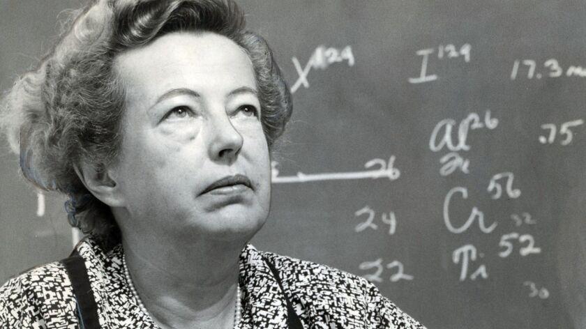 Dr. Maria Goeppert Mayer. Evening Tribune photo.