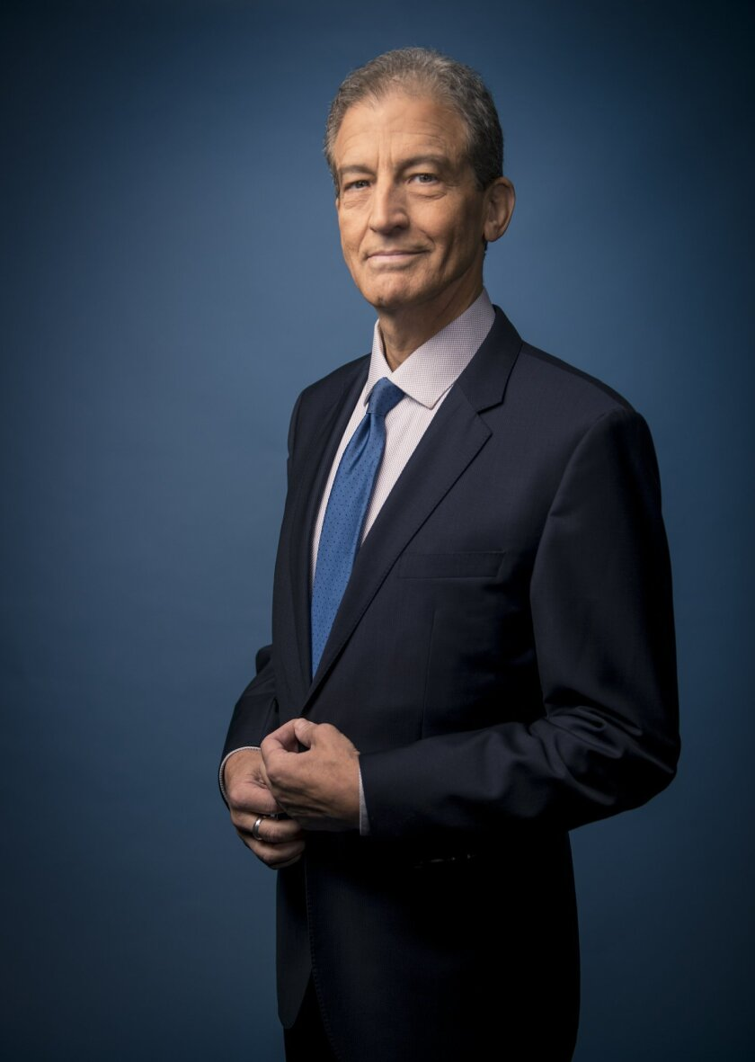This undated photo provided by The Weather Channel on Sunday, July 31, 2016 shows meteorologist Dave Schwartz. The Weather Channel said Schwartz died Saturday, July 30, 2016 after a long fight with cancer. He was 63. (Philip Wages/The Weather Channel via AP)