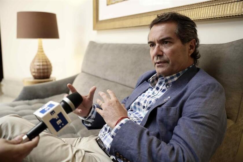 El presidente de Panam Sports, el chileno Neven Ilic, habla durante una entrevista con Efe, este martes en San José (Costa Rica). EFE