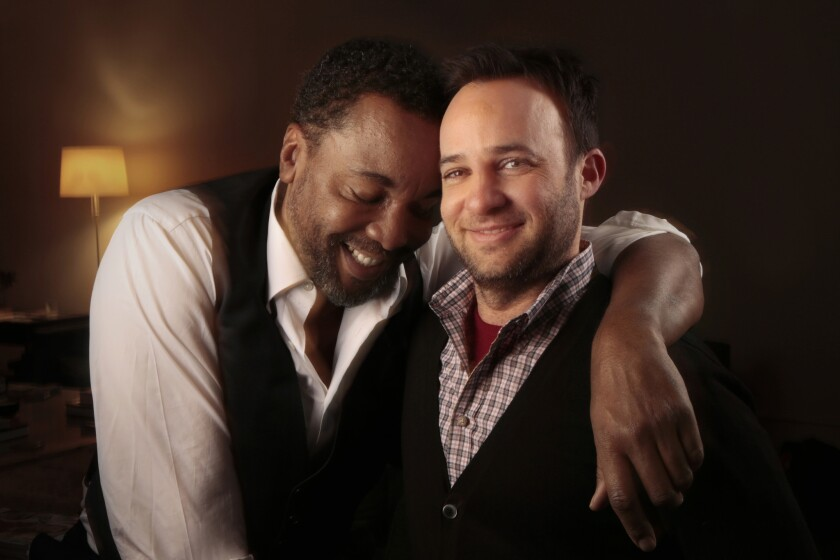 """Lee Daniels, left, and Danny Strong, creators of """"Empire,"""" in New York."""