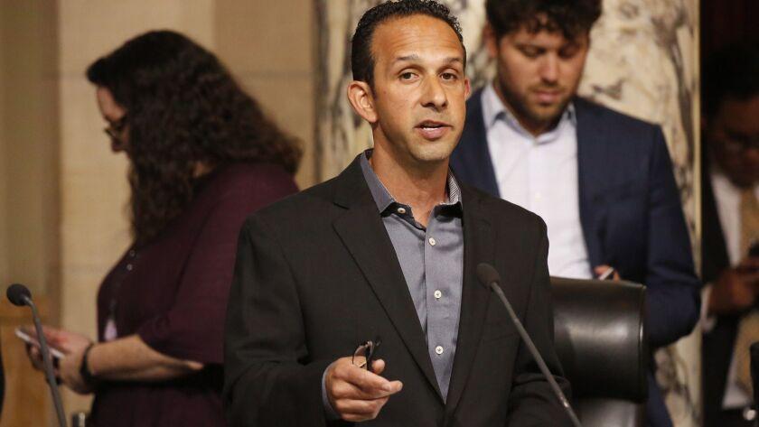 LOS ANGELES, CA – APRIL 17, 2018: Los Angeles City Council member Mitchell Englander, representing