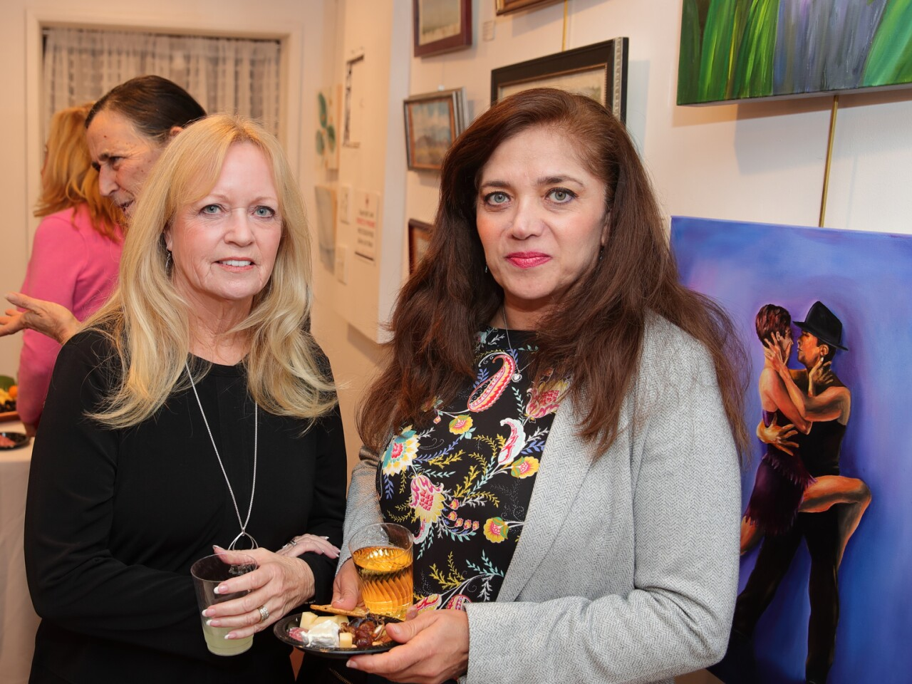 Artists Pam Linton and Sholeh Ashtiani
