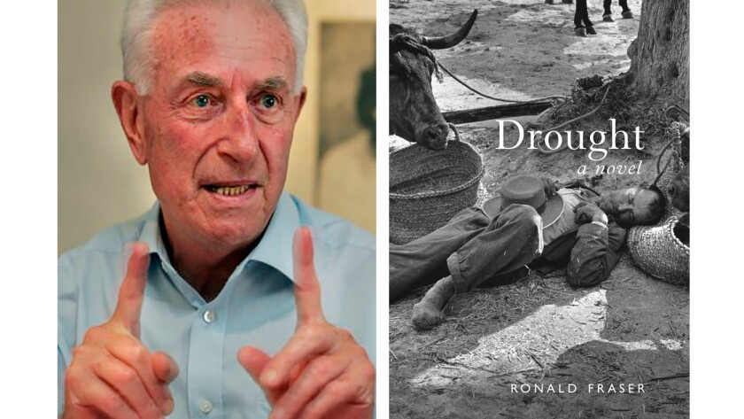 Author Ronald Fraser and his book 'Drought.'