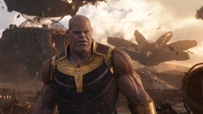 "Thanos (Josh Brolin) in a scene from Marvel Studios' ""Avengers: Infinity War."""