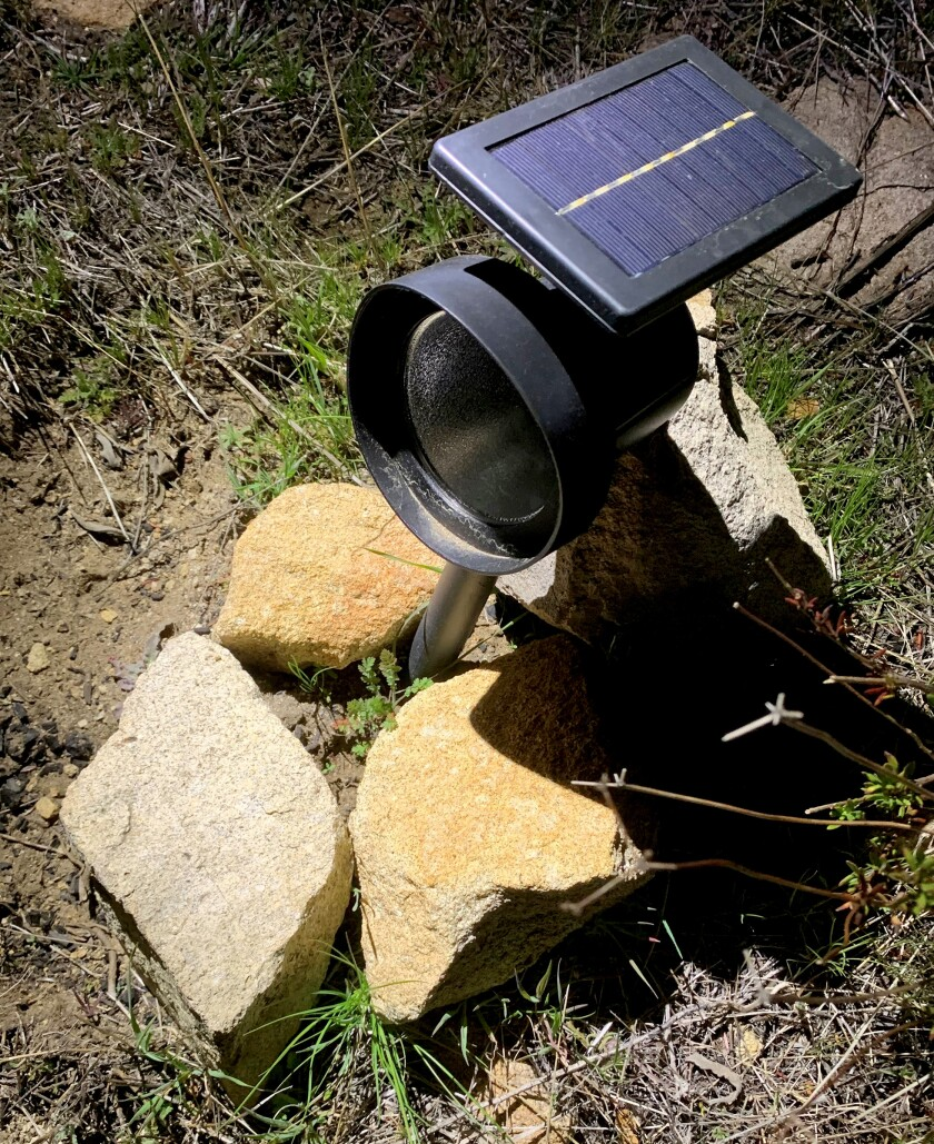 Solar panel light found on La Crescenta's Mt. Lukens