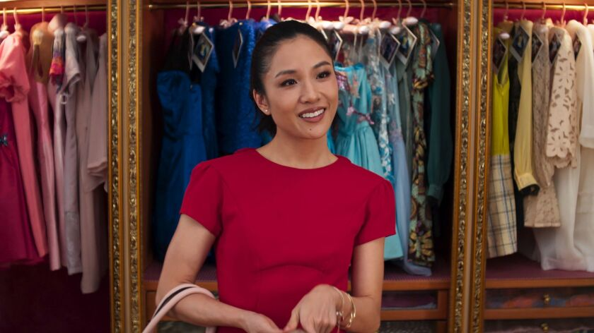 "This image released by Warner Bros. Entertainment shows Constance Wu in a scene from ""Crazy Rich Asi"