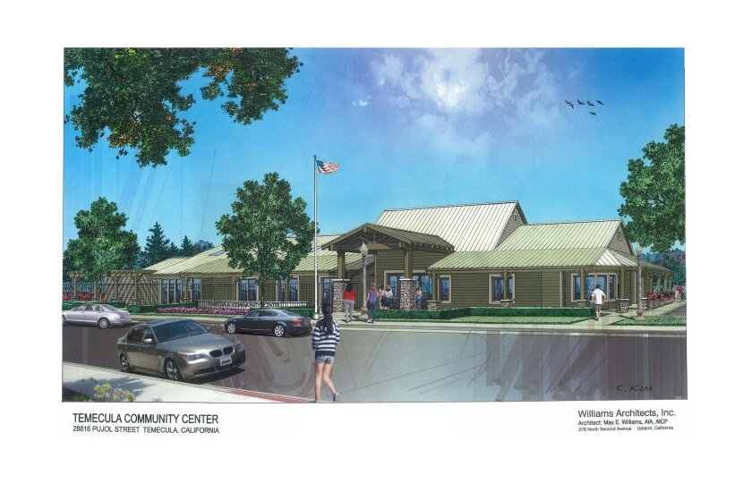 A rendering of what the Temecula Community Center on Pujol Street will look like after the renovation. Courtesy of Williams Architects Inc.