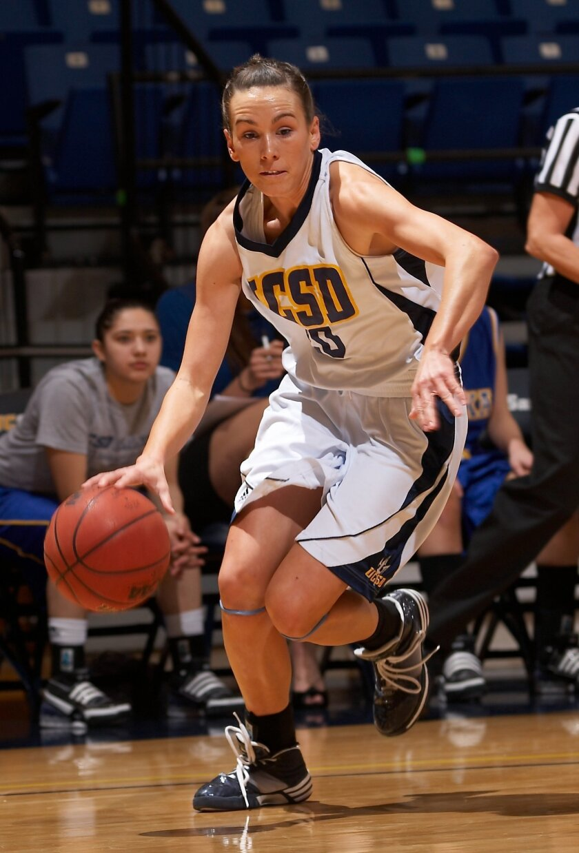 Basketball could be UCSD's premier sport in Division I. Pictured above: former player Annette Ilg.