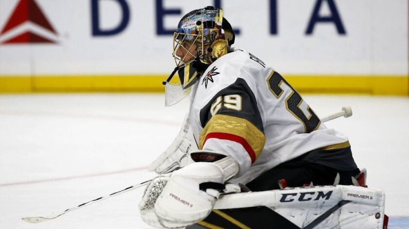 Las Vegas Golden Knights goaltender Marc-Andre Fleury has sold a Las Vegas home he bought two years ago from former Anaheim Duck Sheldon Souray.
