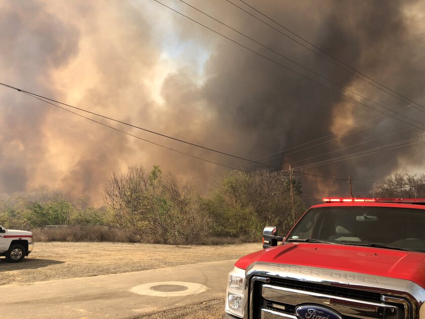Brush fire in Riverside