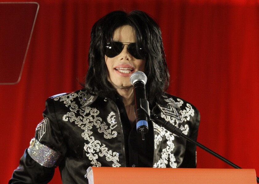 Michael Jackson at a 2009 press conference