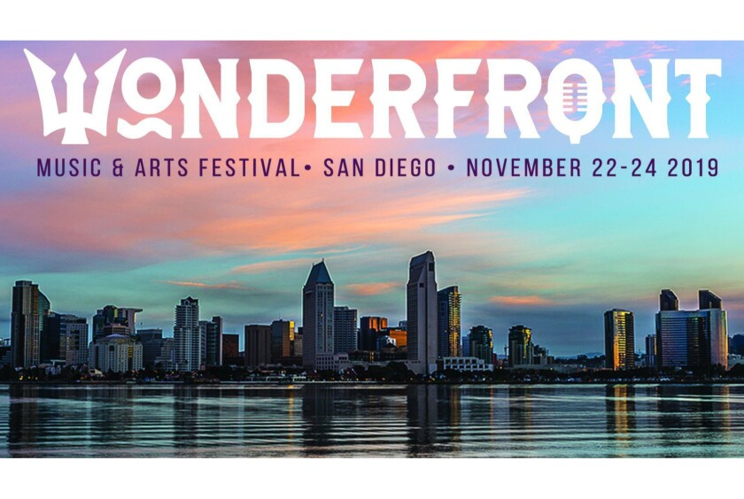 The debut edition of the Wonderfront Music & Arts Festival will feature performances by more than 90 bands and solo acts on at least seven stages along, or near, San Diego Bay