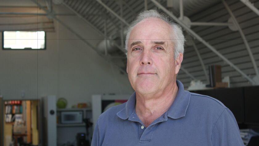 Paul Benton at Alcorn & Benton Architects headquarters on Girard Avenue in La Jolla