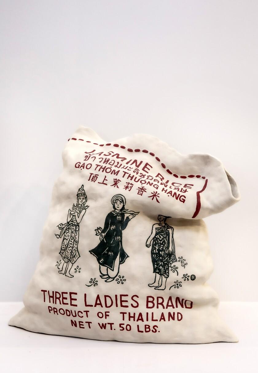 Ceramic bag of rice