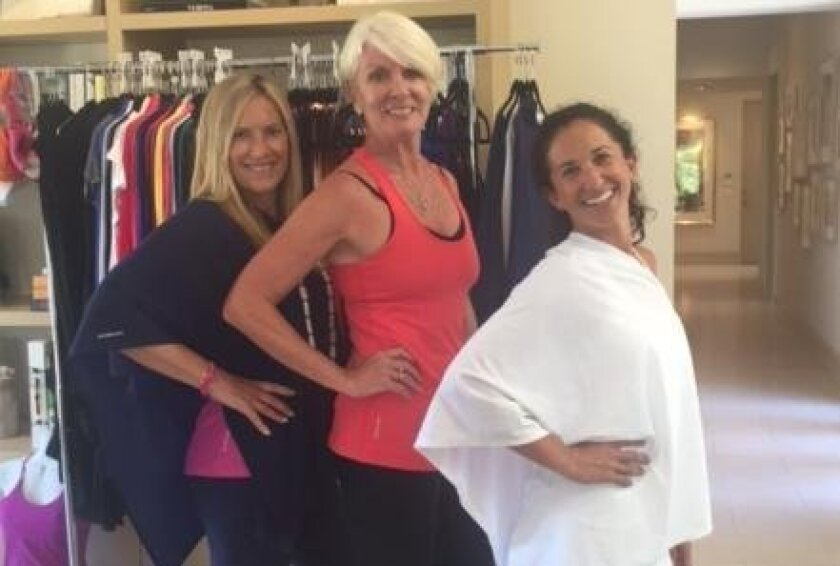 Kimberly Caccavo, co-founder of Graced by Grit Athleticwear; Janet Lawless Christ, Realtor; and Kate Nowlan, co-founder of Graced by Grit Athleticwear.