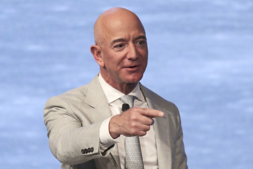 The House Judiciary Committee wants Amazon chief Jeff Bezos, shown in 2019, to testify about the company's statements on its competition practices.
