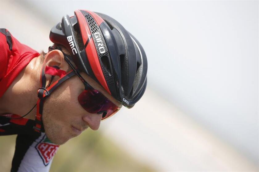 En la imagen, el norteamericano del equipo BMC, Tejay Van Garderen. EFE/Archivo